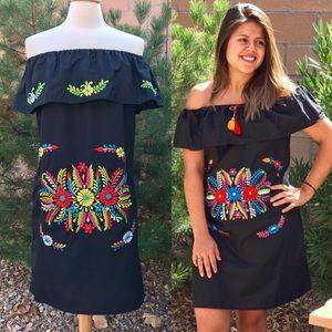 Dresses & Skirts - Mexican off-Shoulder mini Dress /Beach dress